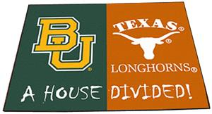 Fan Mats Baylor-Texas House Divided Mat
