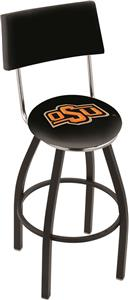 Oklahoma State University Swivel Back Bar Stool