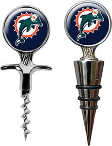 NFL Miami Dolphins Cork Screw & Bottle Topper