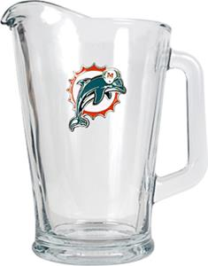 NFL Miami Dolphins 1/2 Gallon Glass Pitcher