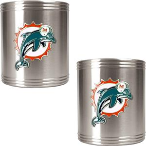NFL Miami Dolphins Stainless Steel Can Holders