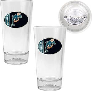 NFL Miami Dolphins 2 Piece Pint Glass Set