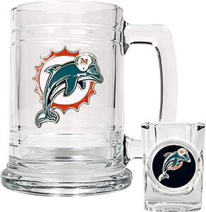 NFL Miami Dolphins Boilermaker Gift Set