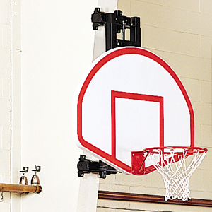 Column-Mounted Basketball Backstop (Fixed Height)