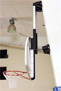 Column-Mounted Basketball Backstop-Height Adjuster