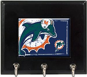NFL Miami Dolphins Wood Keyhook Rack