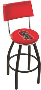 Holland Stanford University Swivel Back Bar Stool