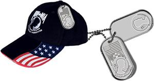 ROCKPOINT POW Freedom Cap w/Dog Tag