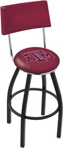 Holland Texas A&M Swivel Back Bar Stool