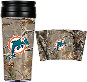 NFL Miami Dolphins 16oz Realtree Travel Tumbler