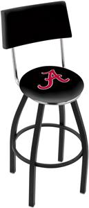 Univ of Alabama Script A Swivel Back Bar Stool