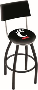 University of Cincinnati Swivel Back Bar Stool