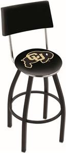 University of Colorado Swivel Back Bar Stool