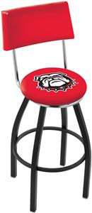 University Georgia Bulldog Swivel Back Bar Stool