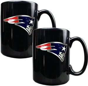 NFL Patriots Black Ceramic Mug (Set of 2)