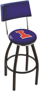 University of Illinois Swivel Back Bar Stool
