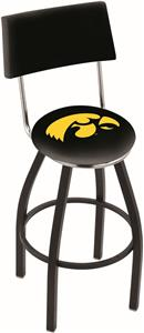 University of Iowa Swivel Back Bar Stool