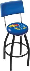 University of Kansas Swivel Back Bar Stool