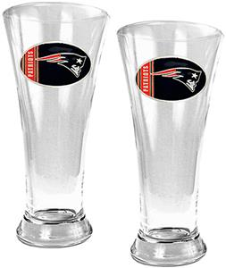 NFL Patriots 2 Piece Pilsner Glass Set