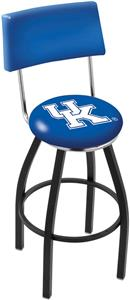University of Kentucky UK Swivel Back Bar Stool