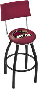 University Louisiana Monroe Swivel Back Bar Stool