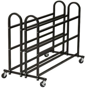 Porter Heavy-Duty Basketball Carts - Double 3-Tier