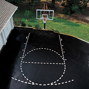 Porter Basketball Court Stencil Kit