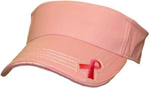 ROCKPOINT Pink Ribbon Visor
