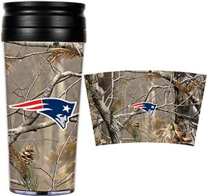 NFL Patriots 16oz Realtree Travel Tumbler