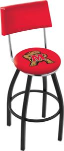 University of Maryland Swivel Back Bar Stool