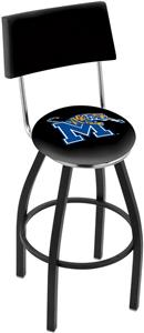 University of Memphis Swivel Back Bar Stool