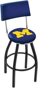 University of Michigan Swivel Back Bar Stool