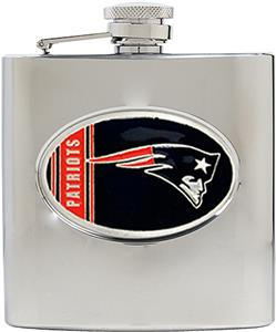 NFL Patriots 6oz Stainless Steel Flask
