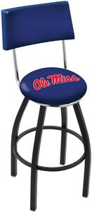 University of Mississippi Swivel Back Bar Stool