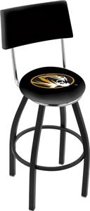 University of Missouri Swivel Back Bar Stool