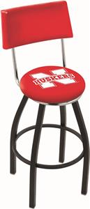University of Nebraska Swivel Back Bar Stool