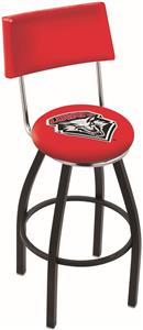 University of New Mexico Swivel Back Bar Stool