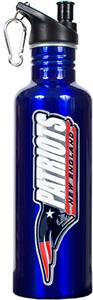 NFL Patriots Blue Stainless Water Bottle