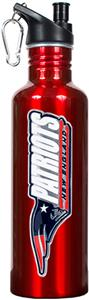 NFL Patriots Red Stainless Water Bottle