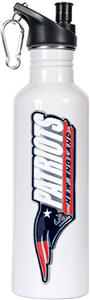 NFL Patriots White Stainless Water Bottle