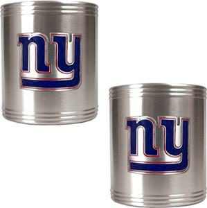 NFL New York Giants Stainless Steel Can Holders