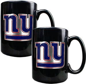 NFL New York Giants Black Ceramic Mug (Set of 2)