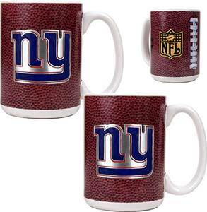 NFL New York Giants Gameball Mug (Set of 2)