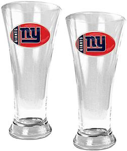 NFL New York Giants 2 Piece Pilsner Glass Set