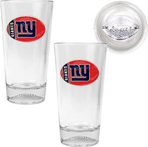 NFL New York Giants 2 Piece Pint Glass Set