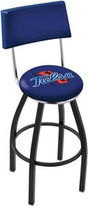 University of Tulsa Swivel Back Bar Stool