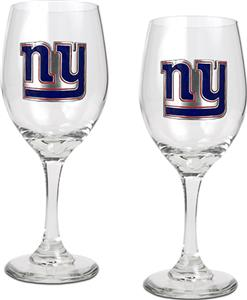 NFL New York Giants 2 Piece Wine Glass Set