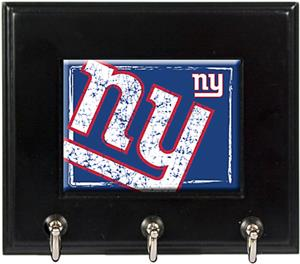 NFL New York Giants Wood Keyhook Rack