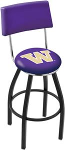 University of Washington Swivel Back Bar Stool