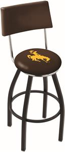 University of Wyoming Swivel Back Bar Stool